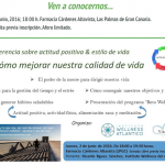El Instituto Wellness del Atlántico organiza la conferencia, «Cómo mejorar nuestra calidad de vida»