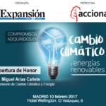 """Expansión, junto con Acciona, celebra la jornada «Compromisos adquiridos en cambio climático y energías renovables"""""""