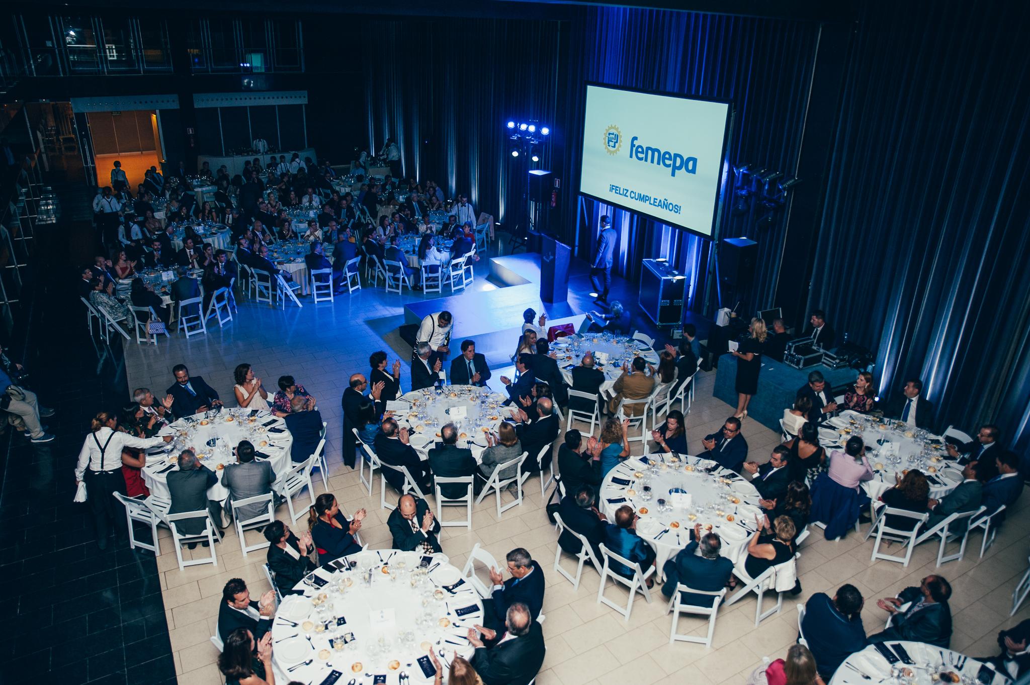 Casi 600 asistentes en la Gala de los 40 de FEMEPA