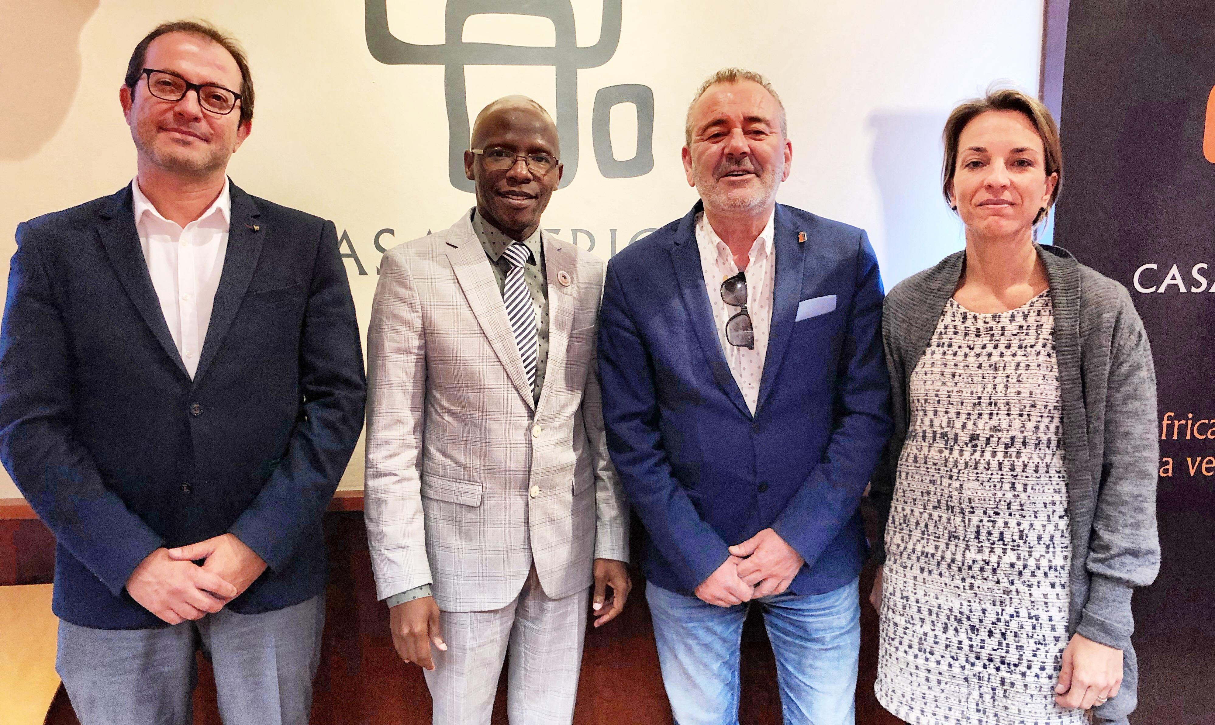 La Federación de Cámaras de Industria y Comercio de África Occidental se reúne en Casa África con Femepa
