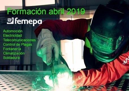 Oferta Formativa Abril 2019 dirigida tanto a trabajadores/as desempelados/as como ocupados/as