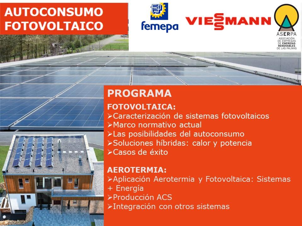 Jornada sobre «Autoconsumo Fotovoltaico» y «Aerotermia, Eficiencia Energética en la Climatización»