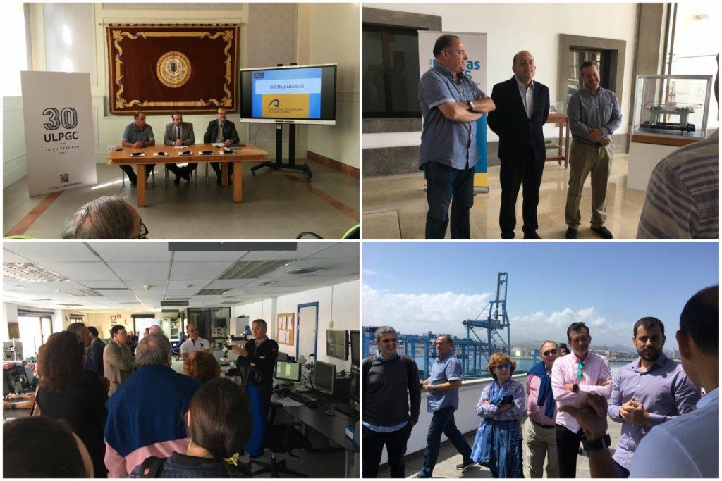Los ponentes del Congreso Internacional de Ingeniería del Mantenimiento en Canarias visitan el Rectorado de la ULPGC y el Puerto de la Luz y de Las Palmas.