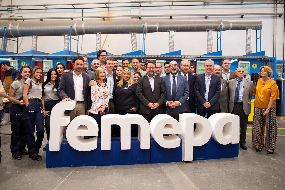 Pablo Casado visita el Centro de Formación Técnico Profesional del Metal de Femepa