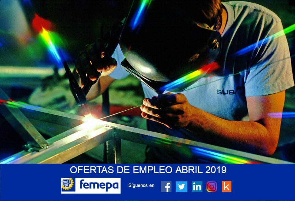 Ofertas de empleo: Abril 2019