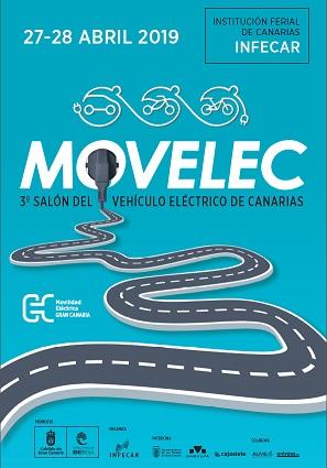 Este fin de semana tendrá lugar el 3ª Salón del Vehívulo Eléctrico en Canarias, Movelec