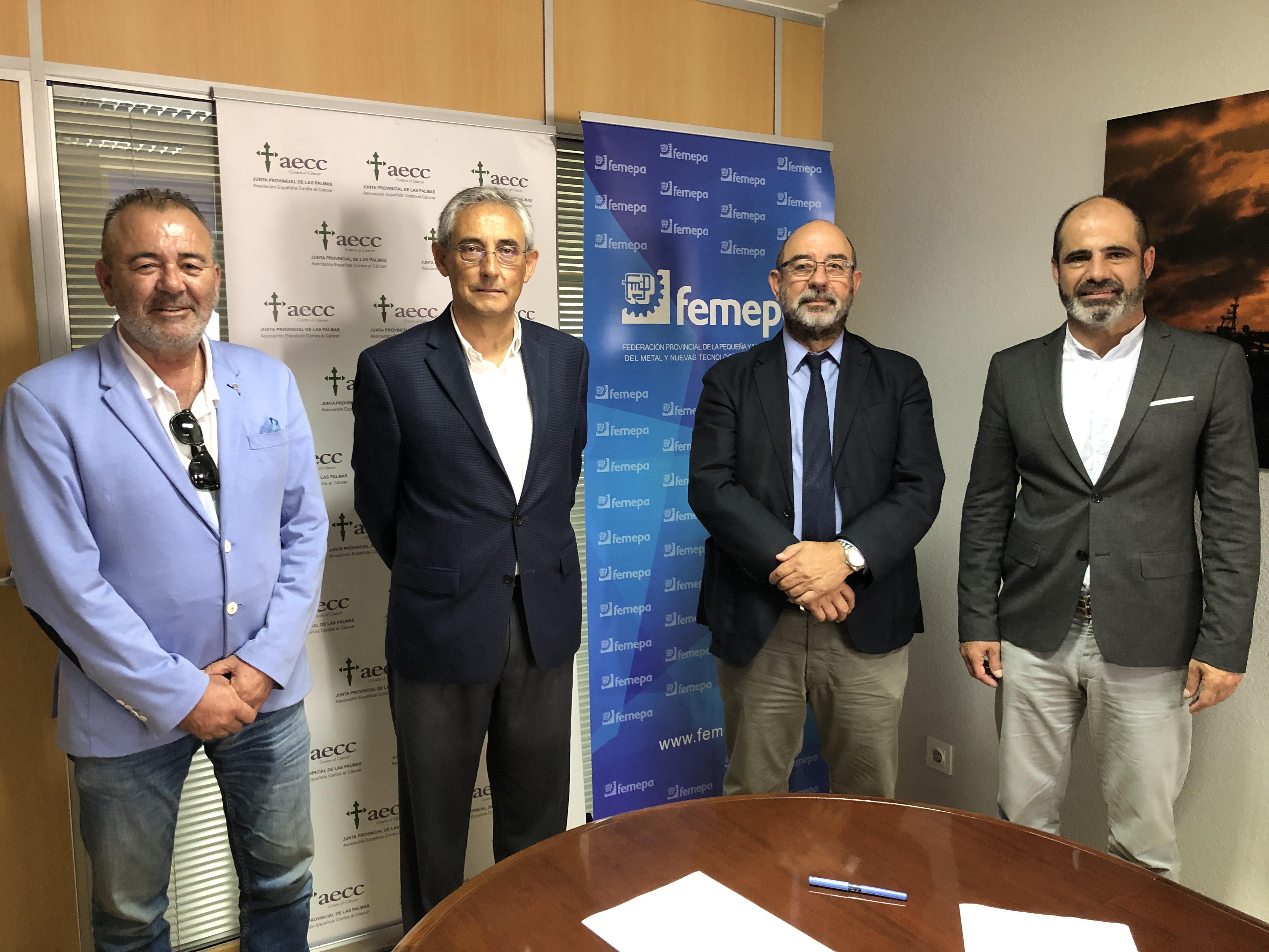La Asociación Española contra el Cáncer y Femepa firman un acuerdo de colaboración en Las Palmas de G.C.