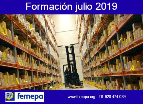 Oferta Formativa julio 2019 dirigida tanto a desempelados/as como ocupados/as