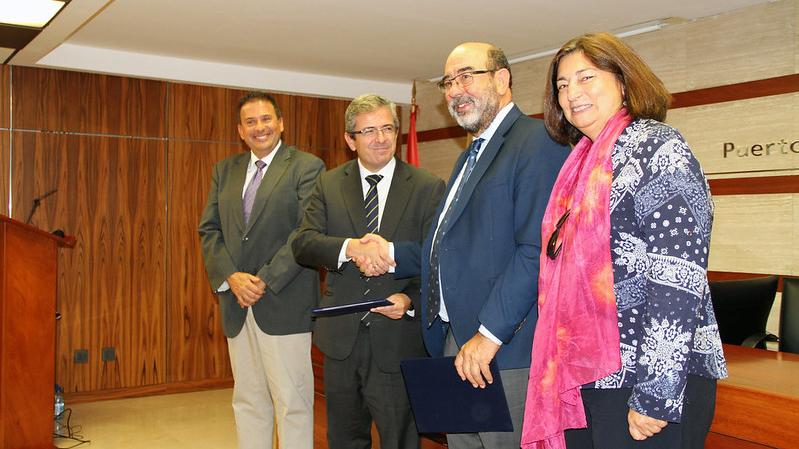 Femepa acude a la firma del convenio de colaboración entre el Clúster Marítimo de Canarias y la Fundación Bankia para la formación dual en el ámbito de la Economía Azul