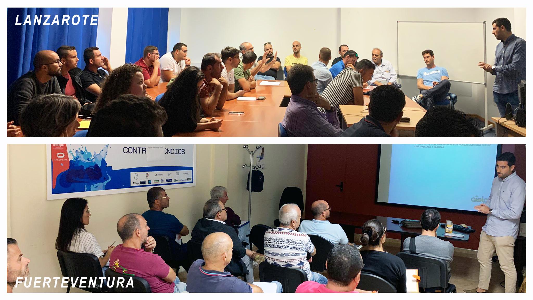 Éxito de participación en las jornadas de Aielpa en Lanzarote y Fuerteventura