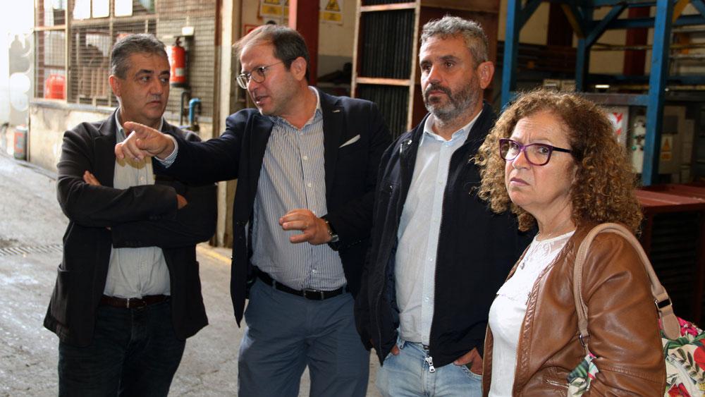 El consejero de Empleo del Cabildo de Gran Canaria visita Astican y Feroher