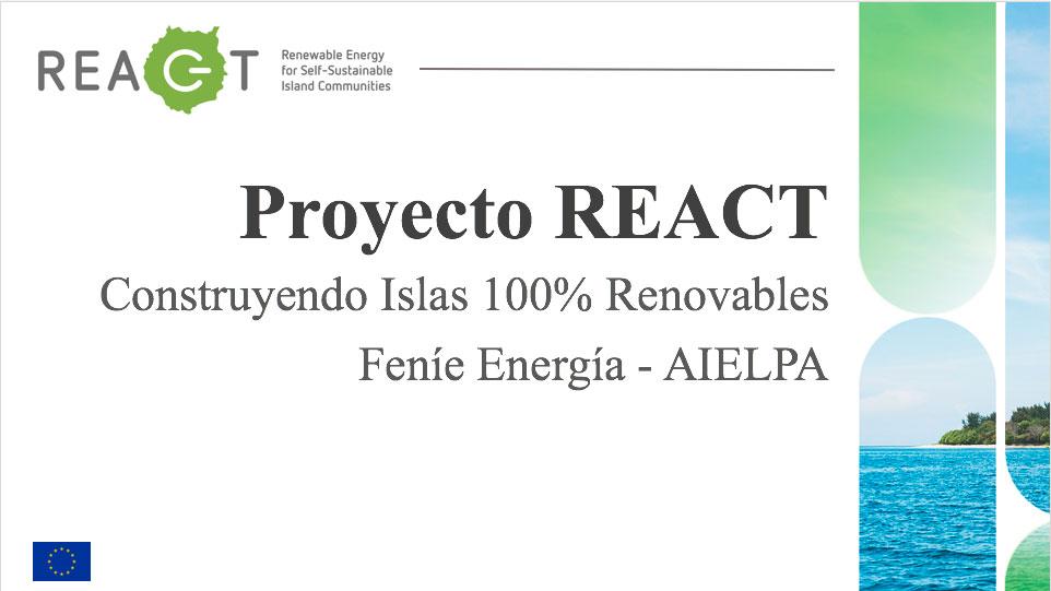 AIELPA formará parte este sábado de la presentación del proyecto europeo REACT de independencia energética en La Graciosa