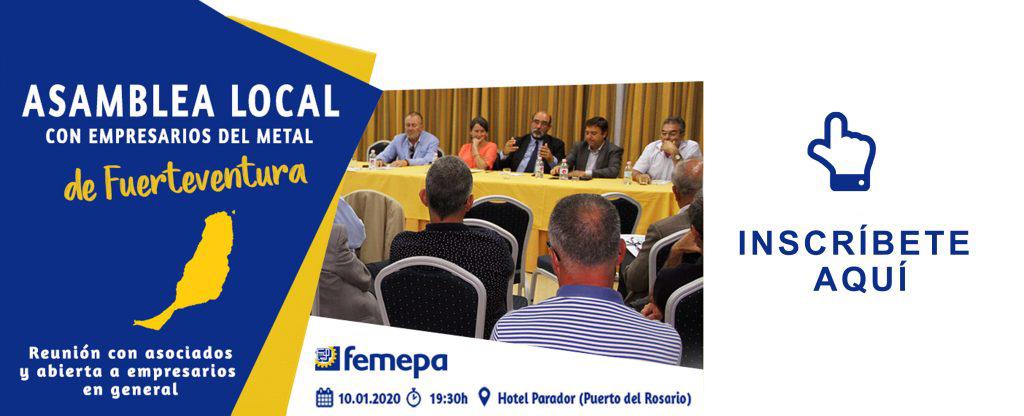 Femepa se reunirá el 10 de enero con los empresarios del Metal de Fuerteventura