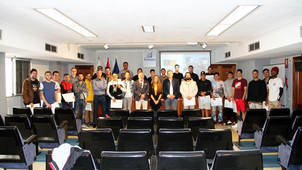 Concluyen los cursos de Juvemcan con la entrega de diplomas en Femepa